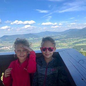 Barbora Dreslerová na vrcholu Velký Javorník (15.7.2018 17:07)