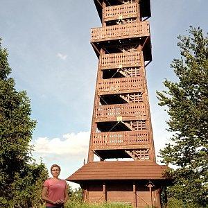 Iva Purmenská na vrcholu Velký Javorník (29.7.2020 17:17)