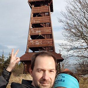 Michal na vrcholu Velký Javorník (5.12.2020 13:24)