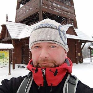 Ivo Šnek na vrcholu Velký Javorník (3.1.2019 16:11)