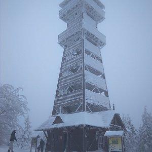 Vítězslav Vrána na vrcholu Velký Javorník (12.1.2019 13:02)