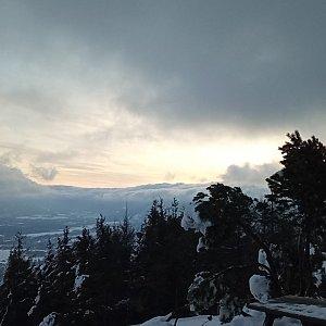 Alžběta Šlosarová na vrcholu Velký Javorník (21.1.2021 7:41)