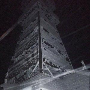 Martin Vlček na vrcholu Velký Javorník (15.1.2019 21:40)