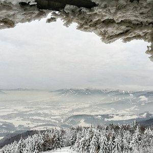 Martin Vlček na vrcholu Velký Javorník (20.1.2019 16:05)