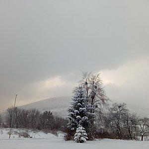 Alžběta Šlosarová na vrcholu Velký Javorník (12.2.2021 14:55)
