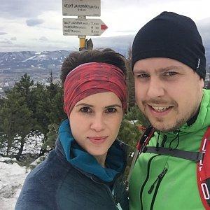 Mirka Langrová na vrcholu Velký Javorník (2.2.2019 12:00)