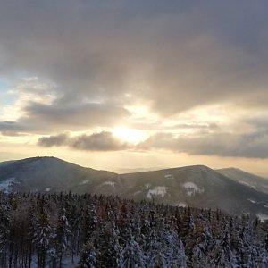 Martin Vlček na vrcholu Velký Javorník (30.1.2019 16:00)