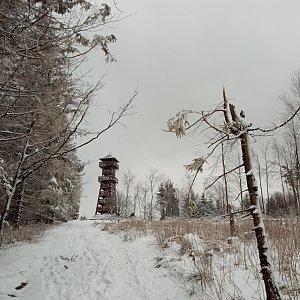 Alžběta Šlosarová na vrcholu Velký Javorník (27.2.2021 9:00)