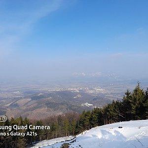 Milan Meravy na vrcholu Velký Javorník (25.3.2021 15:00)