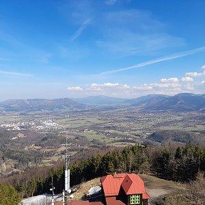 Milan Meravy na vrcholu Velký Javorník (31.3.2021 14:56)