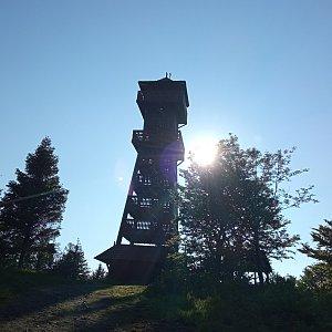 Alžběta Šlosarová na vrcholu Velký Javorník (11.6.2021 7:25)