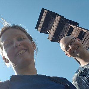Michaela Karásková na vrcholu Velký Javorník (20.6.2021 15:30)