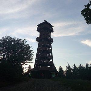 Alžběta Šlosarová na vrcholu Velký Javorník (27.7.2021 19:58)