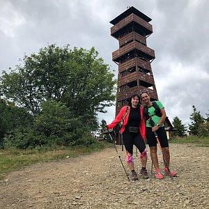 Kateřina Turčeková na vrcholu Velký Javorník (19.8.2021 11:00)