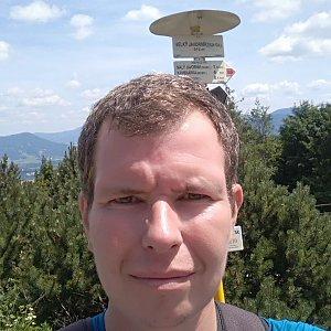 Michal Krčmář na vrcholu Velký Javorník (29.6.2019 12:52)