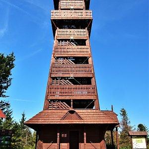 Jiřka Niedobová na vrcholu Velký Javorník (10.9.2021 12:36)