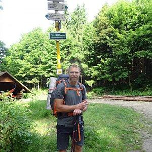 Tomáš Vašíček na vrcholu Malý Lopeník (4.7.2021 9:02)