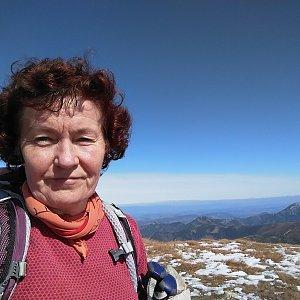 Anna na vrcholu Spálená (21.9.2019 13:03)