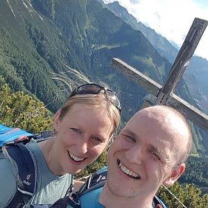 Michaela Karásková na vrcholu Frauenmauer (5.7.2021 16:15)