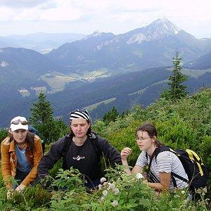 Iveta Válová na vrcholu Žitné (10.7.2008)