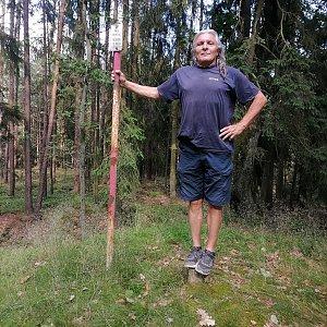 Jaroslav Hrabuška na vrcholu Dubový vrch (3.7.2021 16:50)