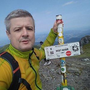 Vítězslav Vrána na vrcholu Veľký Kriváň (20.7.2019 11:03)