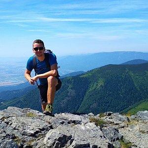 PeteBukař na vrcholu Veľký Kriváň (1.7.2019 10:01)
