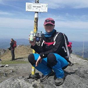 Radka Nezvalová na vrcholu Veľký Kriváň (28.4.2018 13:49)