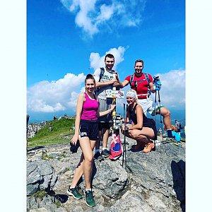 Dominika Turčeková na vrcholu Veľký Kriváň (20.8.2020 12:50)