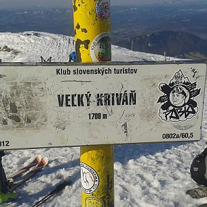 ŠenovKK na vrcholu Veľký Kriváň (30.3.2019 15:45)