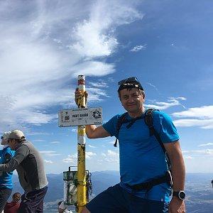 Jarek na vrcholu Veľký Kriváň (6.7.2019 15:30)