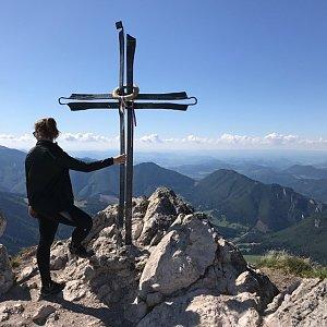 Terez Valčíková na vrcholu Veľký Rozsutec (12.9.2019 14:07)