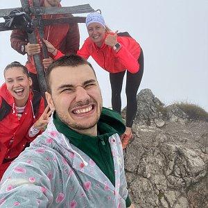 Dominika Turčeková na vrcholu Veľký Rozsutec (19.8.2020 15:40)