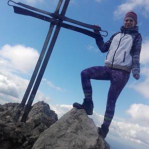 BarůůŠ Heczková na vrcholu Veľký Rozsutec (29.9.2018)