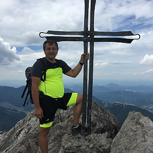 Jarek na vrcholu Veľký Rozsutec (5.7.2019 12:50)