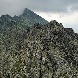 Ondra Horáček na vrcholu Zadný Slavkovský hrb (25.7.2021 9:53)