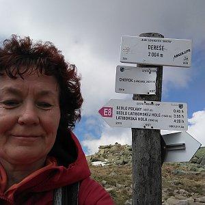 Anna na vrcholu Dereše (1.6.2019 15:31)
