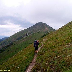 Martin na vrcholu Hochrettelstein (4.7.2021 8:25)