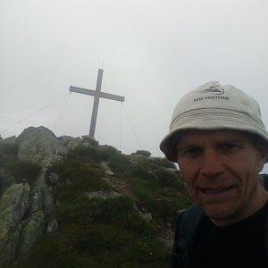 Martin na vrcholu Seekoppe (4.7.2021 8:25)