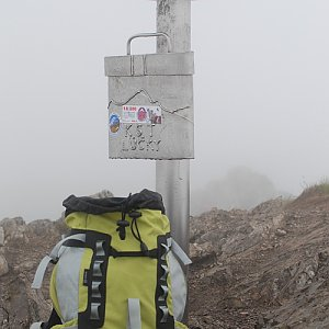 Miroslav Příhonský na vrcholu Veľký Choč (18.5.2013 12:54)