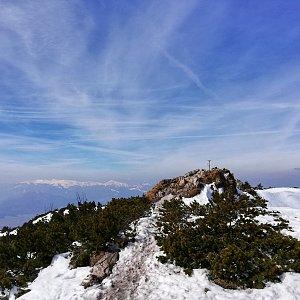 Martin Vlček na vrcholu Veľký Choč (29.3.2019 12:15)