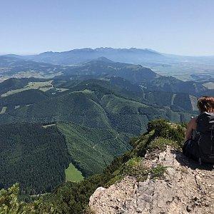 Terez Valčíková na vrcholu Veľký Choč (30.6.2019 11:53)