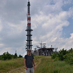 Jarda Vála na vrcholu Velká Javořina / Veľká Javorina (7.7.2021)