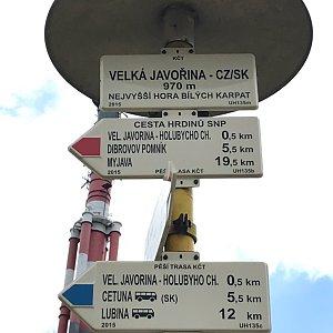 Terez Valčíková na vrcholu Velká Javořina (23.7.2019 12:58)
