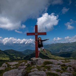 Ivetast na vrcholu Punta dell'Auccia (29.7.2021 14:30)