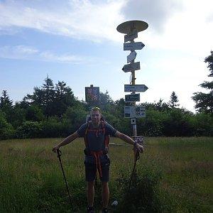 Tomáš Vašíček na vrcholu Velký Lopeník (3.7.2021 19:30)