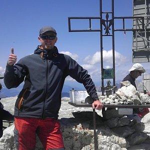 Petr Papcun na vrcholu Piz Boé (9.7.2015 13:50)