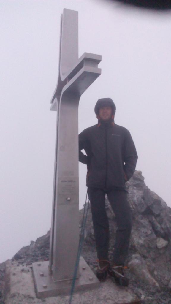 Petr Papcun na vrcholu Ortler (6.8.2017 5:57)