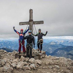 Jitka Procházková na vrcholu Mangart (24.9.2018 13:43)