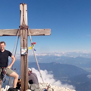 Petr Papcun na vrcholu Mangart (5.7.2017 9:01)